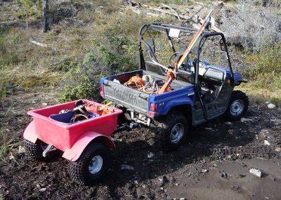 Brush removal – NAV Canada, remote access, Fish Lake, YT