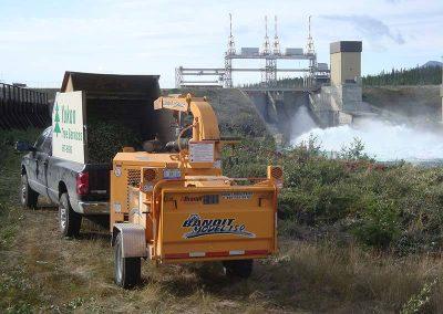 Brush removal – Whitehorse hydro dam