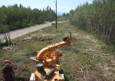 Chipping – Hydro line, Lake Laberge, YT