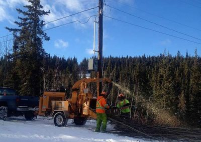 Chipping – Hydro line, Lobrid tap, Whitehorse, YT