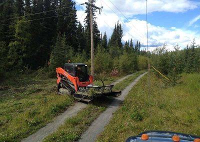 Mowing – Hydro line, Alaska Hwy, YT
