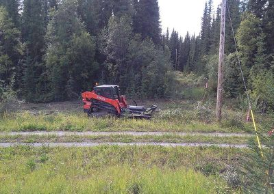 Mowing – Hydro line right of way, Alaska Hwy, YT