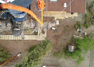 Tree removal – Aerial view, Lewes Sub, YT